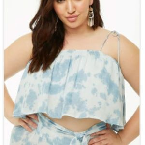 Self-Tie Cropped Cami
